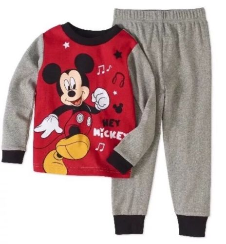 Toddler Boys Mickey Mouse Pajama Set Size 12 Months