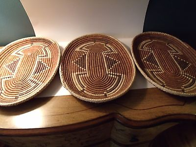 American Indian woven serving trays (3)