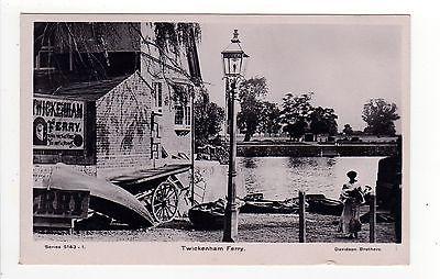 TWICKENHAM UNITED KINGDOM RPPC Real Photo Postcard FERRY Davidson CHARING CROSS