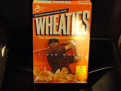 TIGER WOODS 2002 EMPTY WHEATIES BOX