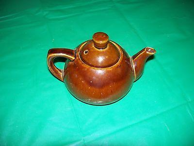 VTG EPI Curio Redware Pottery Small Teapot Signed Ming Tea Co. Japan