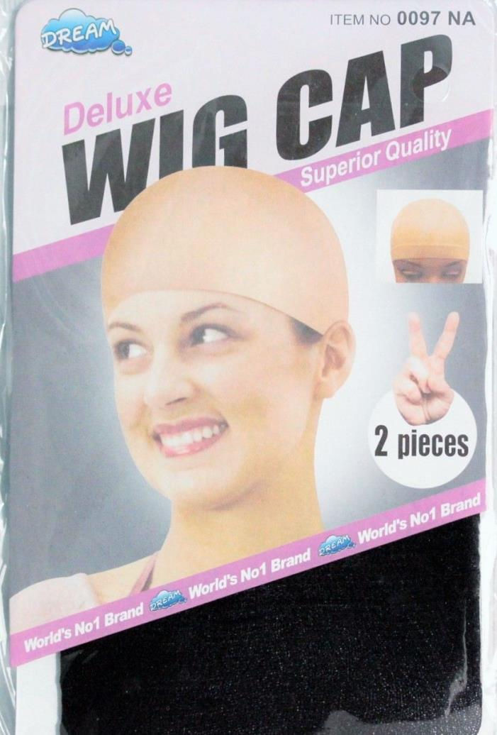 2 Wig Caps BLACK Stocking WIG Caps 2 IN PACKAGE US Seller