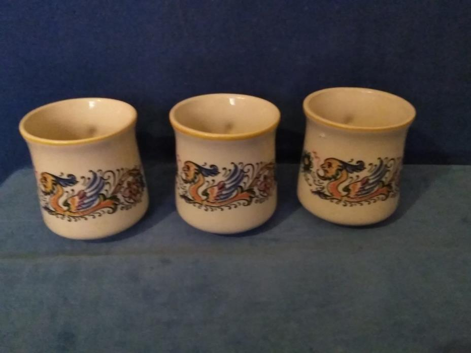HALL Dragon Man Sea Monster 5 CUPS Sold Separately Vintage White Multi-Color