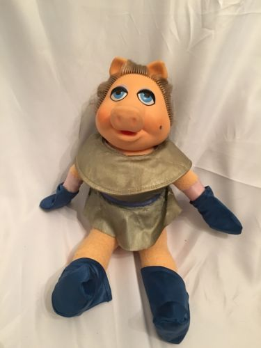 Miss Piggy Doll 1980 Jim Henson Muppets Fischer Price Pigs In Space Outfit