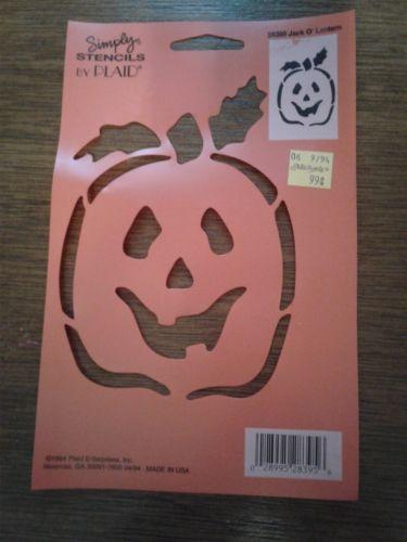 Stencil Halloween Pumpkin Plastic 8 x 5 Inch Made In U.S.A. 1994