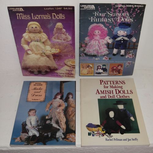 Dollmaking and Dressing 4 Book Lot ~ Leisure Arts Creative Costumes & Patterns