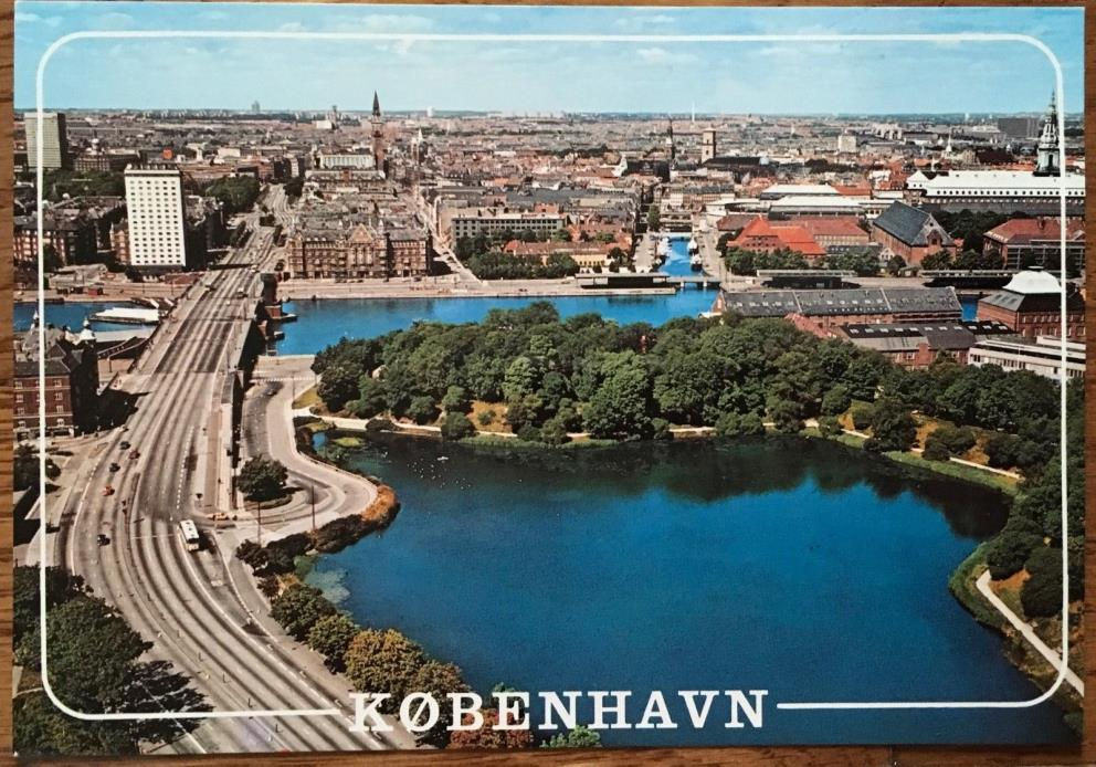 Copenhagen Denmark Vintage Postcard View From Hotel Scandinavia