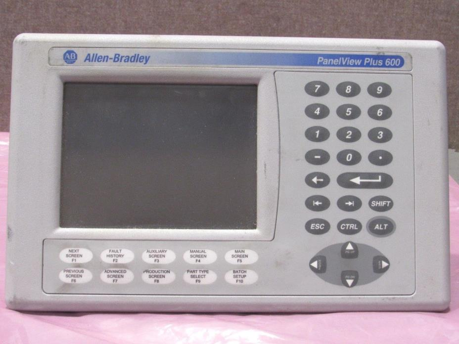 Allen-Bradley PanelView Plus 600 Color Keypad 2711P-B6C20D Series B Power Tested