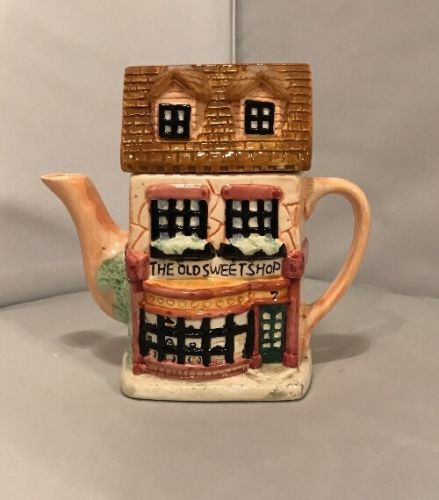 The Old Sweet Shop House Shaped Teapot