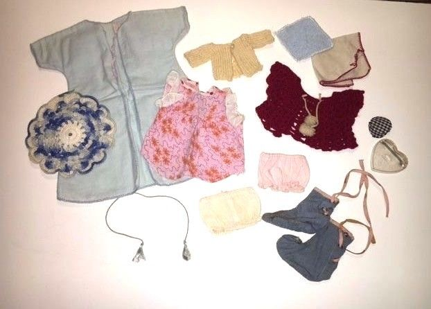 Vintage Lot Of Doll Clothes & Shoes Circa 1950's Era Mixed Ginny?