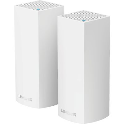Linksys Wi-Fi System 4 000sq.ft. coverage 4GB Flash 2 Nodes WHW0302