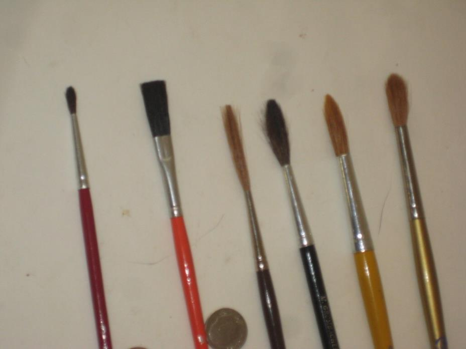 Artist Paint Brushes 11  vintage Grumbacher  Various  sizes excellent condition