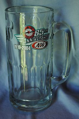 85th Anniversary A&W Rootbeer glass Mug 1919-2004 Tall with handle A & W float