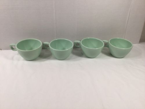 SET OF 4 MINT GREEN SUPER DON-ITE COFFEE CUPS MUGS ~ Melamine