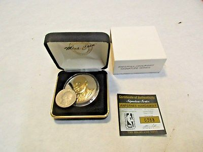 Highland Mint Anfernee Hardaway 1 oz. .999 Fine Silver Coin 24KT Gold Overlay NR