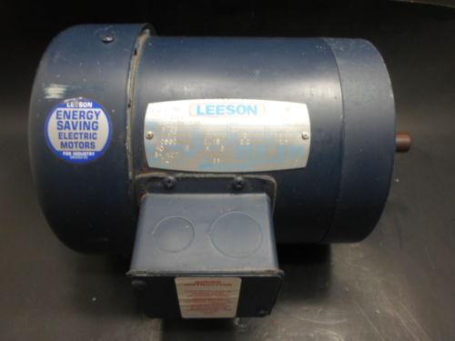 NEW LEESON ELECTRIC MOTOR C6T17FK51B, C6T17FK51B HO4B, 1/2 HP, 1725 RPM, NNB