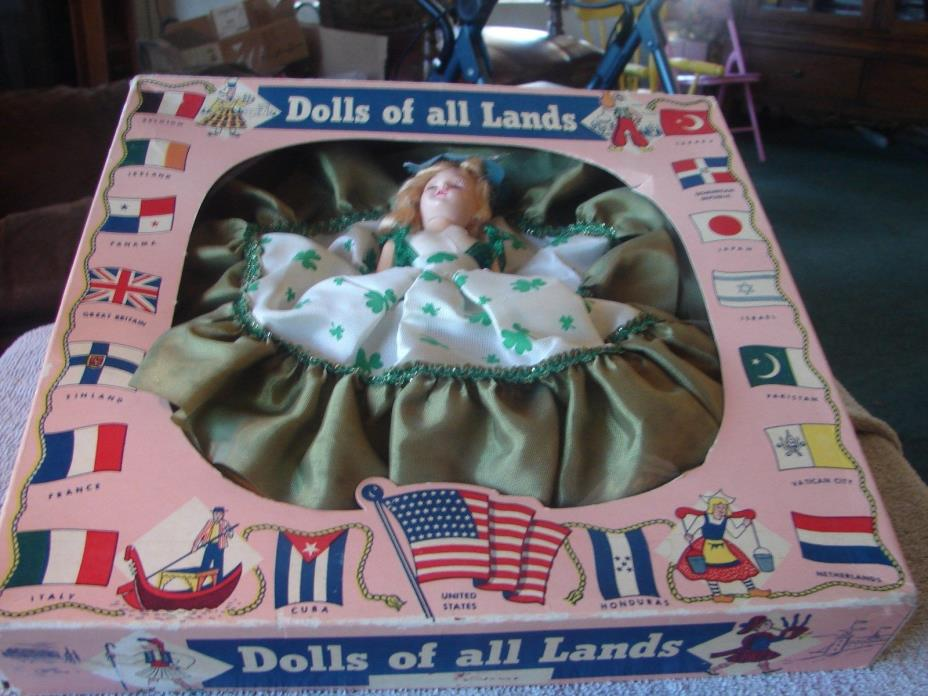 Vintage Irish girl , Ireland Dolls of All Lands Original Box 50s