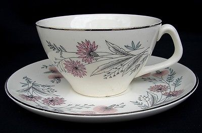 CANONSBURG CITATION PINK LACE CUP & SAUCER SET(S)