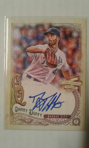 danny duffy kansas city royals 2017 topps gypsy queen auto