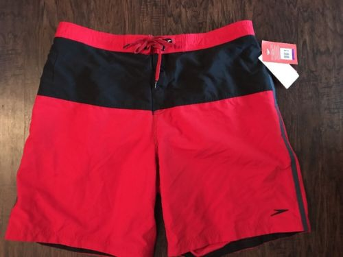 Speedo Men's Red  Long Bay Sports Quick Dry  Watershorts Mesh Linning  XXL