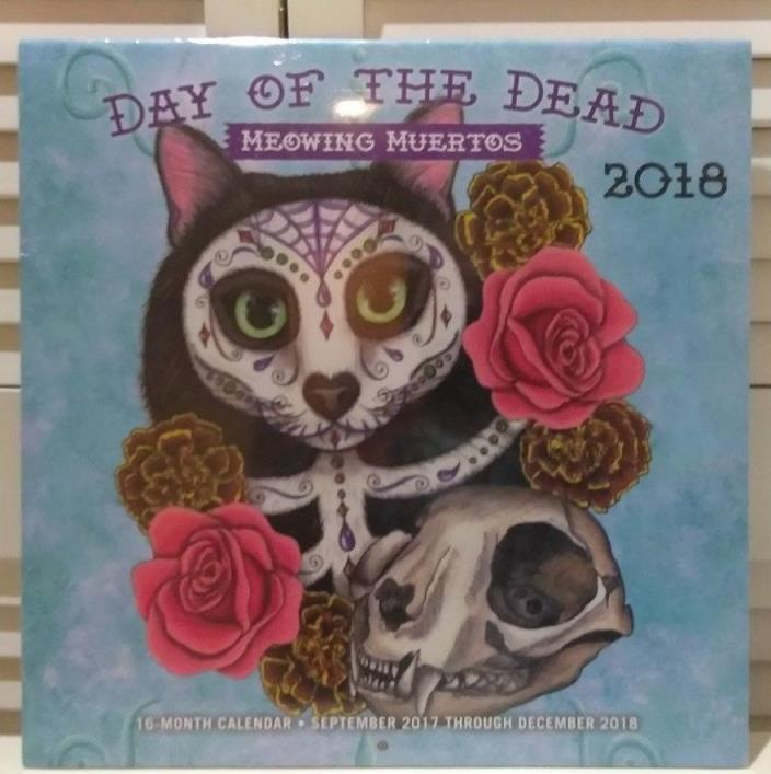 2018 Day of the Dead, Meowing Muertos, Wall Calendar, Ethnic Art by Quarto