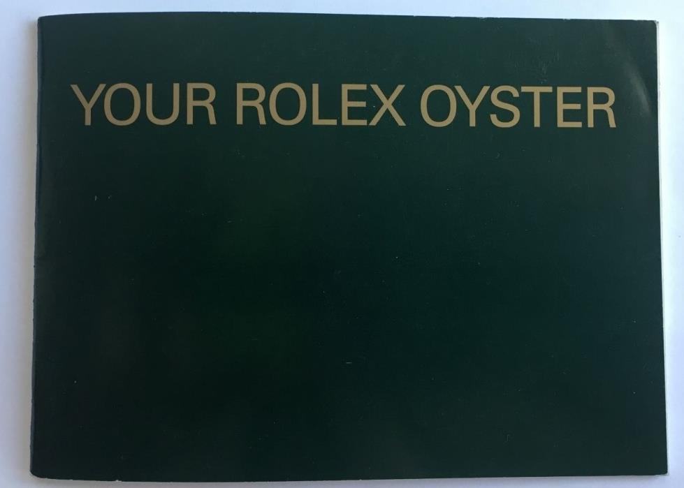Original YOUR ROLEX OYSTER  BOOKLET Eng 5.2005 579.52  Great Price