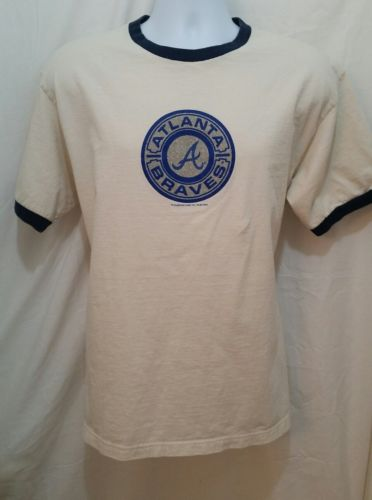 MLB Atlanta Braves Baseball Vintage T-Shirt - Mens Size M