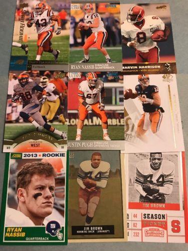 (126) Syracuse Football Card Lot- Jim Brown- Donovan McNabb- Harrison