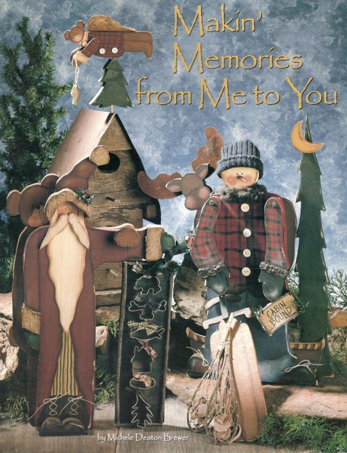 Makin' Memories~Christmas Halloween Primitive Tole Painting Book~Michele Brewer