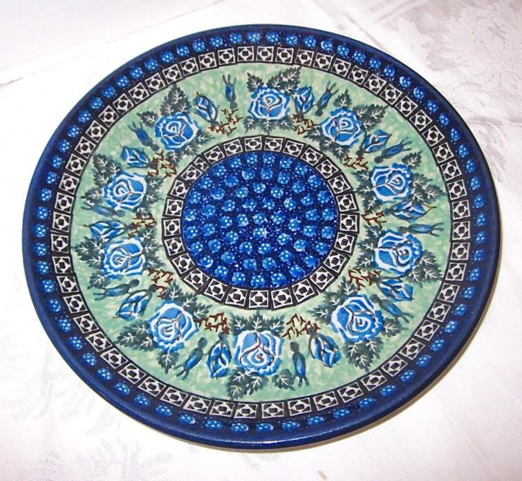 "Polish Pottery Boleslawiec Unikat 10 1/2"" Dinner Plate"
