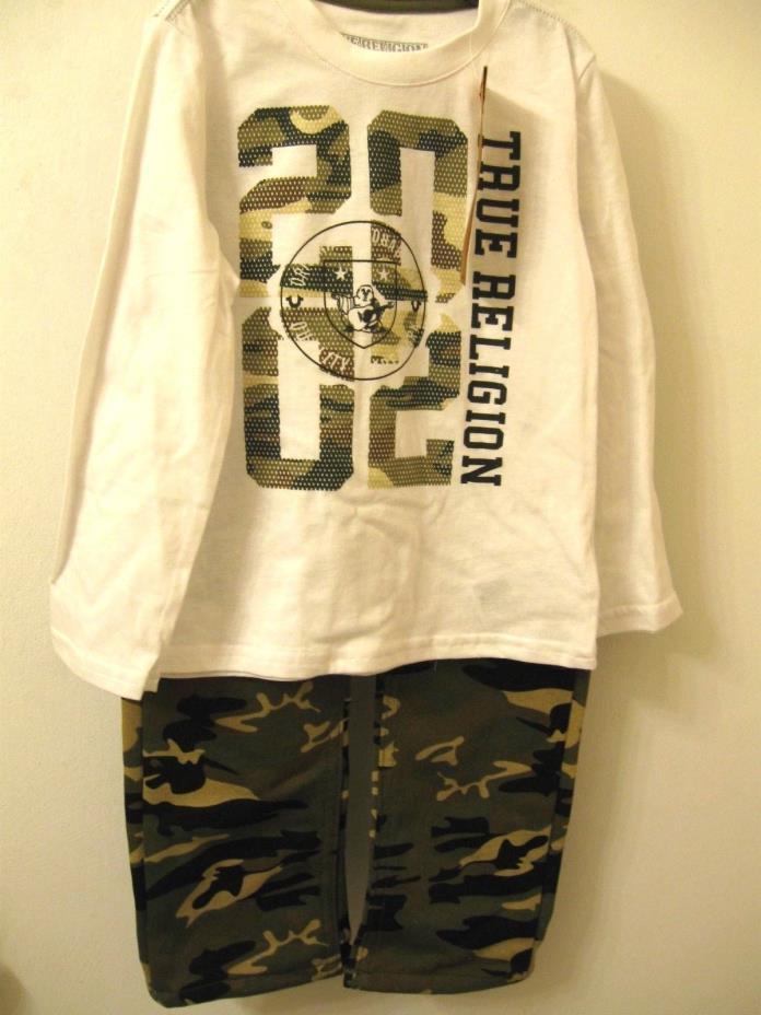 True Religion Boys Pants & Long Sleeve Shirt Set Size 4T