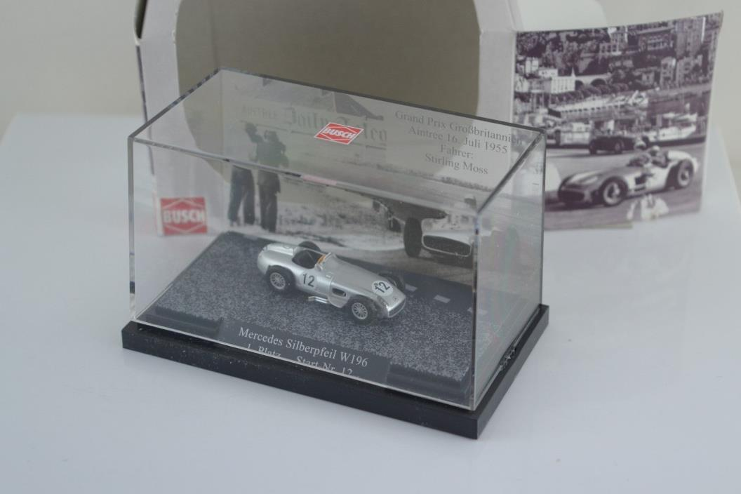 Busch Mercedes Silver Arrow W196 Great Britain Stirling Moss 1955 Winner 1:87