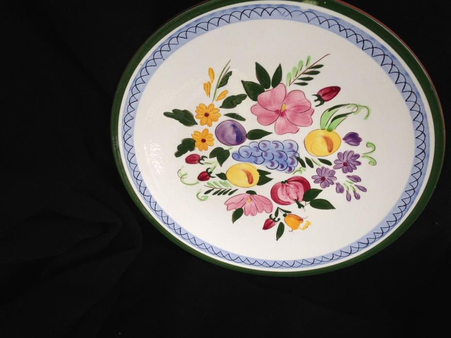 STANGL POTTERY .. FRUIT & FLOWERS .. 14 INCH ROUND CHOP PLATE OR SERVING PLATTER