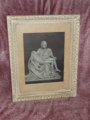 Vintage RARE Framed Photo/Print Roma Basilica di S Pietro Vaticano Michelangelo