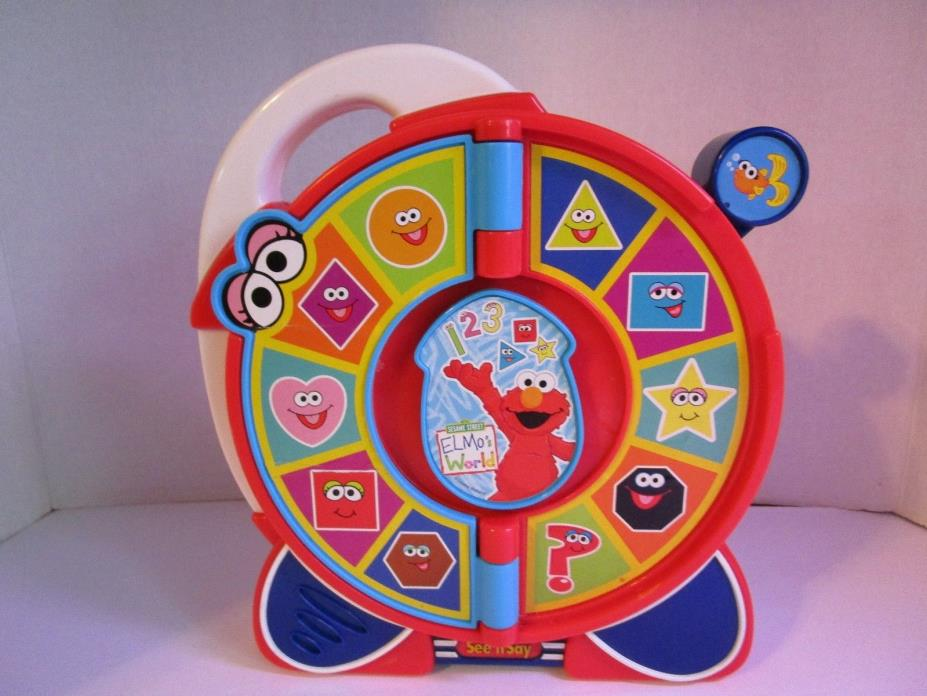 Sesame Street Elmo's World See 'n Say 2005 Works Great, Numbers and Shapes