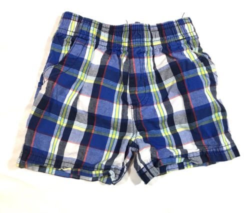 Garanimals Plaid Baby Toddler Shorts Size 12 M Blue