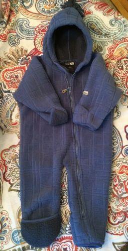 REI Infant Hooded Textured Fleece Pram Bunting Snowsuit 6M EUC