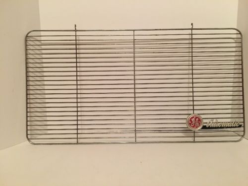 Vintage GE GENERAL ELECTRIC Automatic Window Box Floor Fan Metal Front Cover