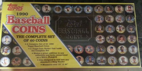 Topps 1990 Baseball Coins The Complete Set of 60 Coins NIB