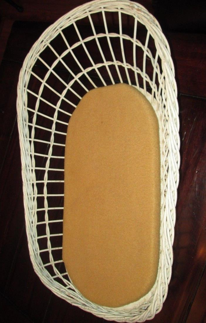 vintage baby scale wicker basket part replacement Great shape S DOLL BED CUSHION