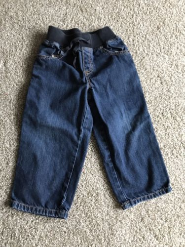 GYMBOREE Toddler Boys Jeans Size 3t Elastic Stretchy Waist PRE-OWNED Free Ship