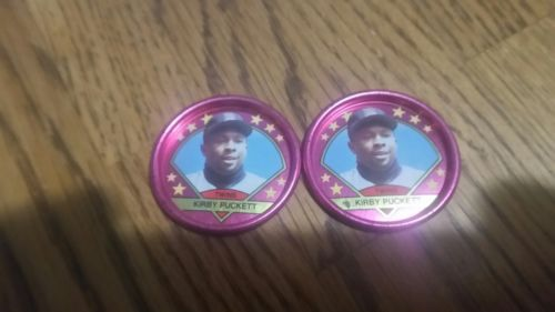 1990 topps metal coin kirby puckett