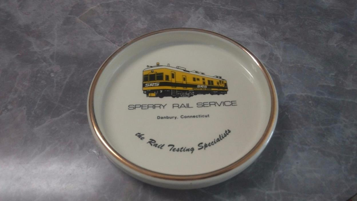 SPERRY RAIL SERVICE, SPERRY RAIL CANDY DISH/ASHTRAY/DISH/PLATE