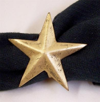 NAPKIN RINGS WINTERBERRY STAR GOLD DISTRESSED