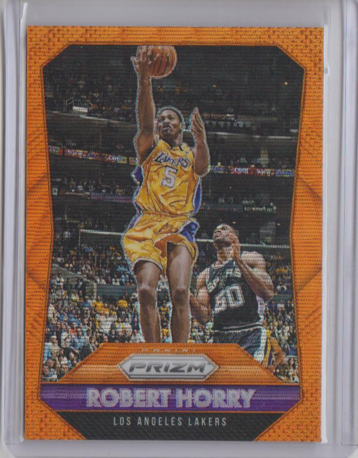 2015-16 Panini Prizm ROBERT HORRY Orange Wave PRIZM #256 Lakers Refractor SP