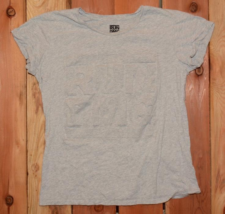 Run D.M.C.Graphic Tee Shirt with Cuffed Sleeves Woman's Size Medium