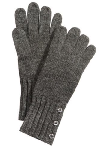 NWT Michael Kors Ribbed-Cuff Knit Gloves
