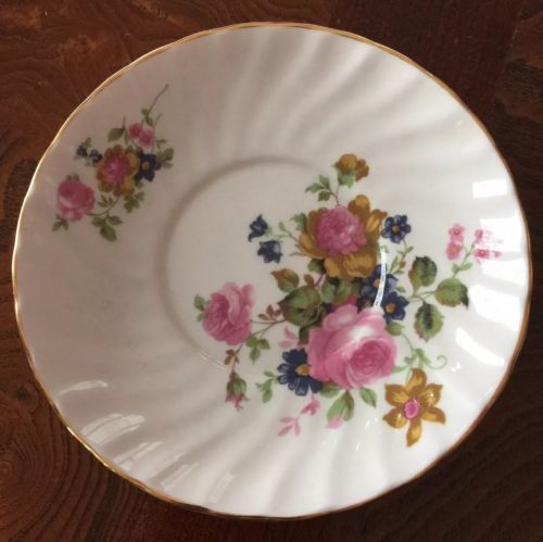Royal Stuart Fine Bone China England Flowered Saucer