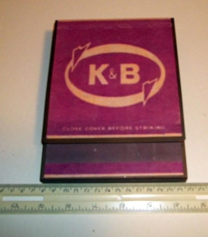 Gorgeous & dawlin'  K B drug store New Orleans  big matchbook tin sign vintage