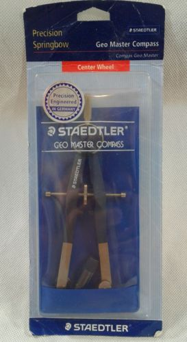 STAEDTLER Geo Master Compass - NEW - 556 00BK -Precision Springbow - GERMANY